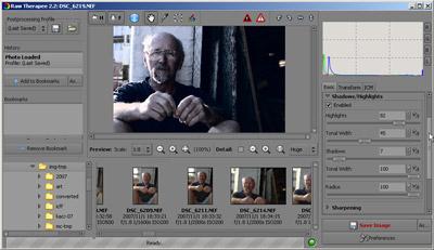 Raw Therapee Screen Shot