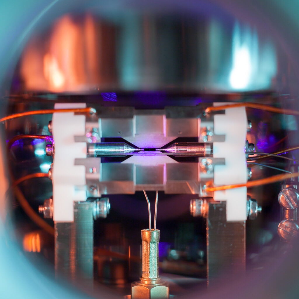 A single atom. Photo by David Nadlinger
